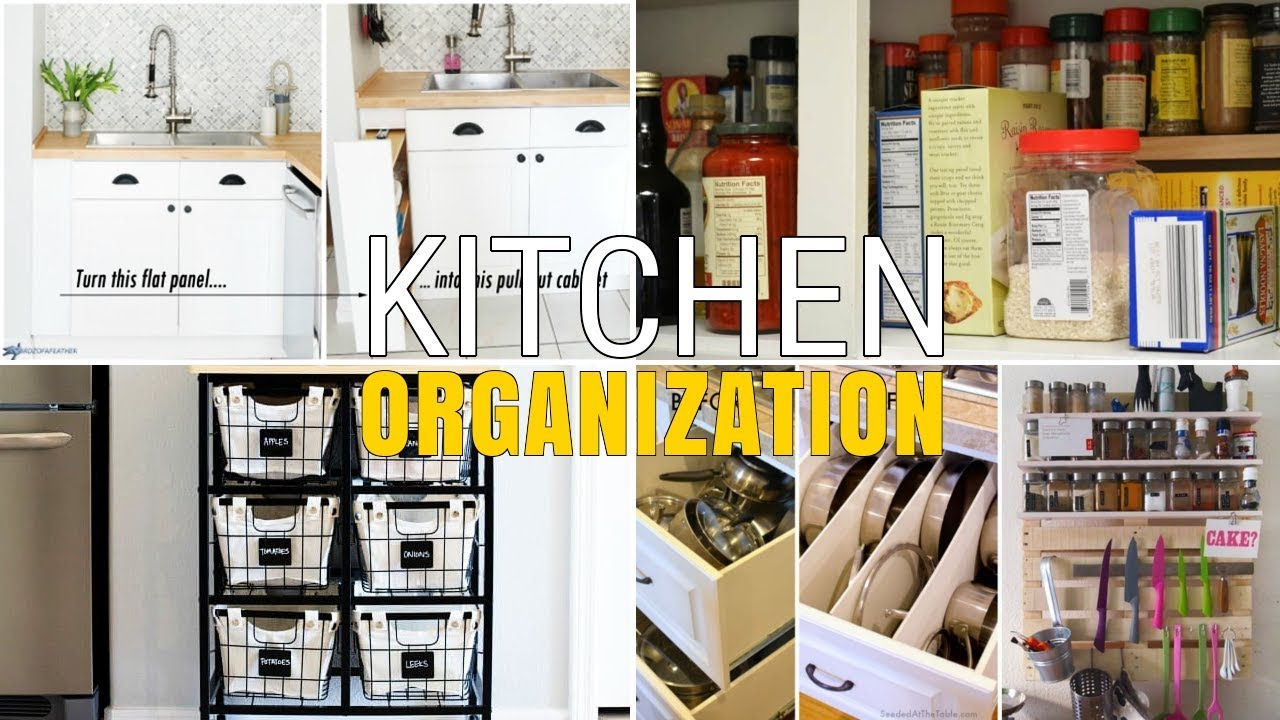 12 Unique kitchen DIY organization Ideas - YouTube
