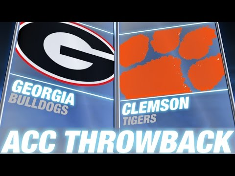 1987 Georgia at Clemson | ACC Throwback