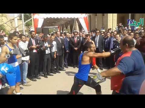 وزير التعليم العالي يشهد افتتاح لعبة المصارعة بجامعة القاهرة  - 18:20-2017 / 9 / 16