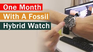 One month review of a Fossil Collider HR hybrid smart watch
