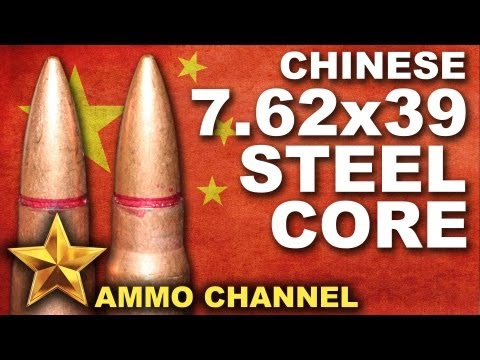 AMMOTEST: Banned 7.62x39 Chinese Steel Core - AK 47 SKS WASR-10 SAIGA Kaloshnikov