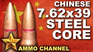 Video AMMOTEST: Chinese 7.62x39 Steel Core download MP3, 3GP, MP4, WEBM, AVI, FLV Juni 2018
