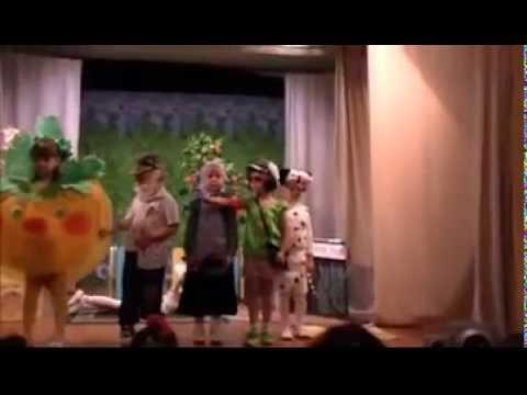 Cмотреть видео онлайн Детский сад с  Углянец гр Гномики сказка Репка
