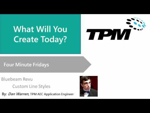 Four Minute Friday: Bluebeam Revu - Custom Line Styles - YouTube