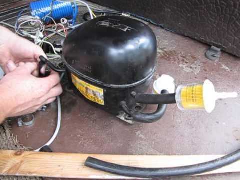 Как сделать из компрессора от холодильника насос