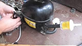 як зробити компресор з мотора від холодильника