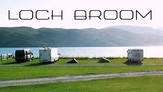 Solo camping at Broomfield Holiday Park, Ullapool, Scottish  Highlands