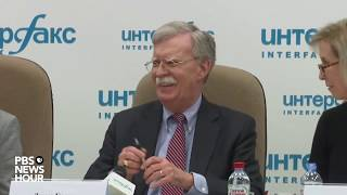 WATCH: National Security Adviser John Bolton holds a news conference in Moscow