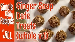 Ginger Snap Date Treats