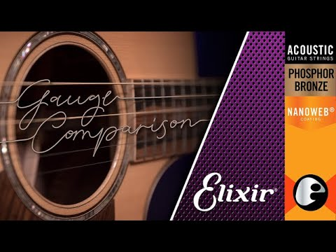 String Gauge Showdown Elixir Phosphor Bronze Strings Gauge Comparison Youtube