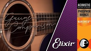 String Gauge Showdown! Elixir Phosphor Bronze Strings: Gauge Comparison