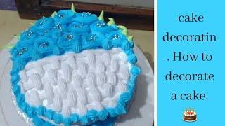 Birthday cake recipe | Cake design Idea with English subtitles | Pineapple Cake| Arpit multi Resimi