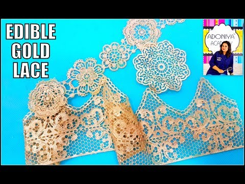 How To Make Edible Sugar Lace | Gold Lace | Video Tutorial