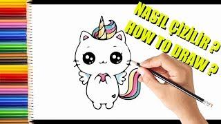 NASIL ÇİZİLİR? | Çok Kolay Unicorn Kedi Resmi Çizimi