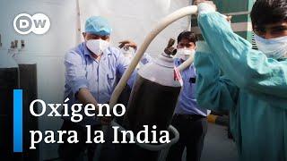 Llega ayuda extranjera a la India ante el récord de contagios