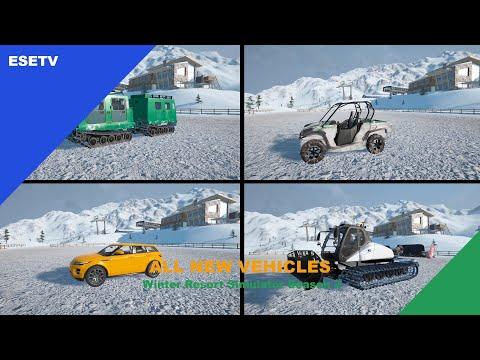 All new vehicles, Winter Resort Simulator Season 2 gameplay |