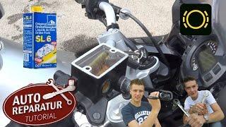 BREMSFLÜSSIGKEIT WECHSELN | Motorrad | Bremsflüssigkeitswechsel [Tutorial] HD brake fluid motorcycle