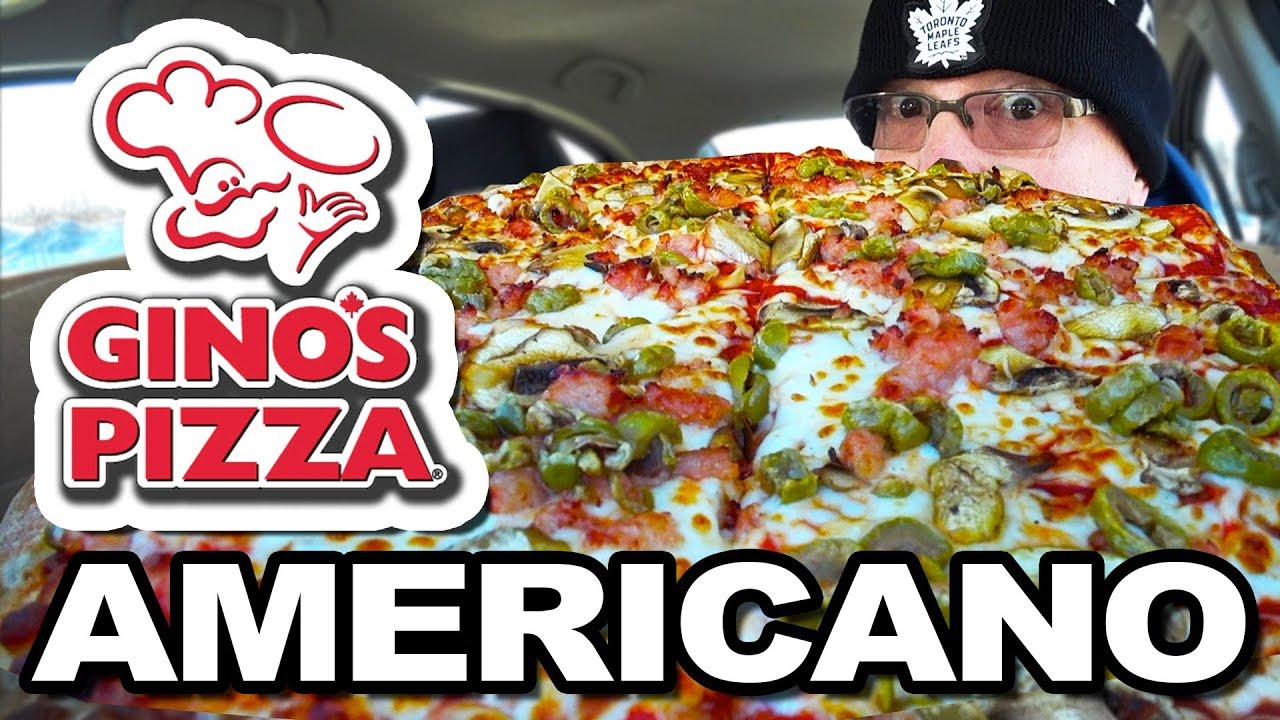 Ginos Pizza Americano Medium Pizza Review Youtube