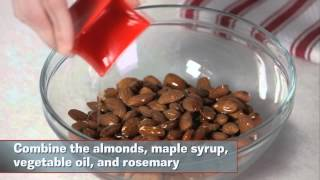Snacks in a Snap: Maple-Rosemary Almonds Thumbnail