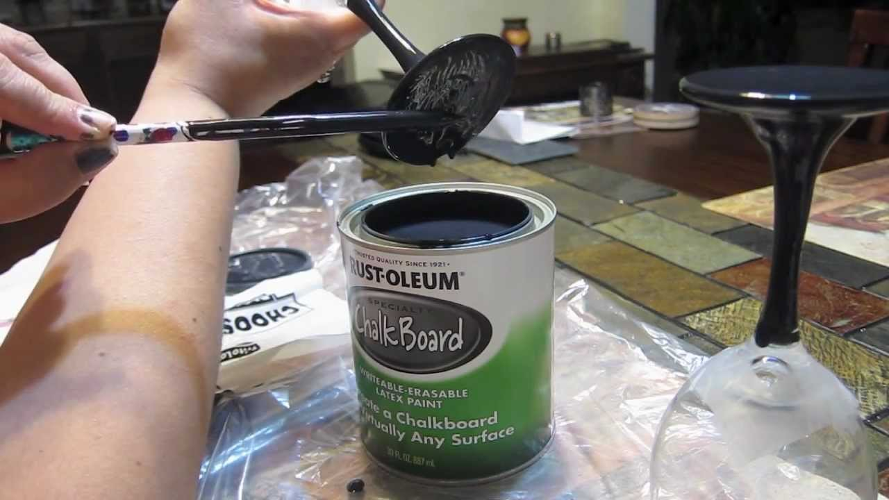 Can You Use Chalkboard Spray Paint On Glass