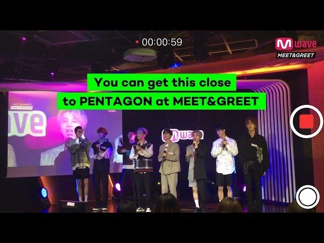 PENTAGON - 'Just do it yo!!' Live Fancam at MEET&GREET | 181022