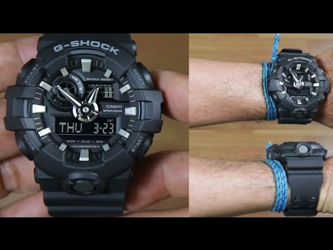 0b0150958535 CASIO G-SHOCK GA-700-1B FULL BLACK - UNBOXING - YouTube