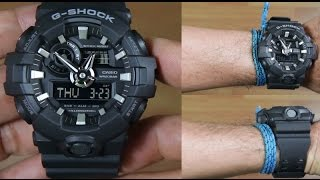 CASIO G-SHOCK GA-700-1B FULL BLACK - UNBOXING