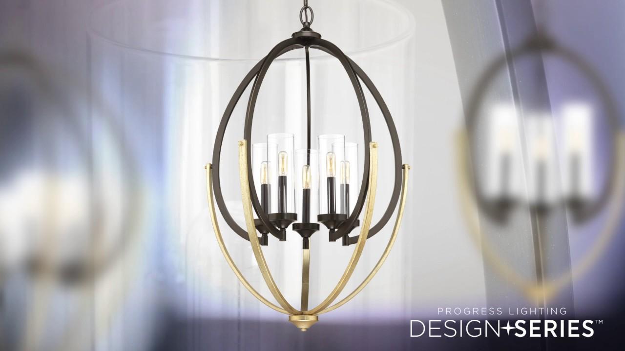 Evoke 5 Light 25 Inch Antique Bronze Chandelier Ceiling Design Series