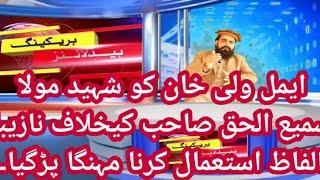Shahed mulana smiul haq ki khelaf amal wali khan ki nazeba alfaz istemal krna shedat ikhtyar kargia.