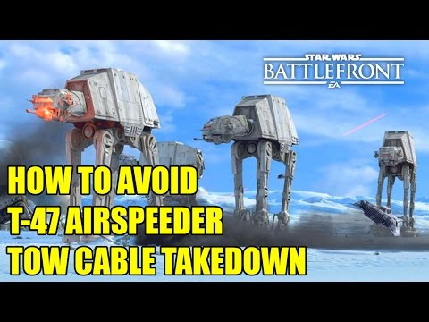 Star Wars Battlefront - How to Avoid T-47 Airspeeder Tow Cable Takedown (Tips & Tricks)