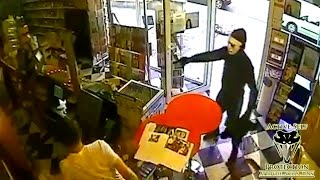 Shop Owner Uses Trained Attack Dog to Thwart Armed Robber | Active Self Protection