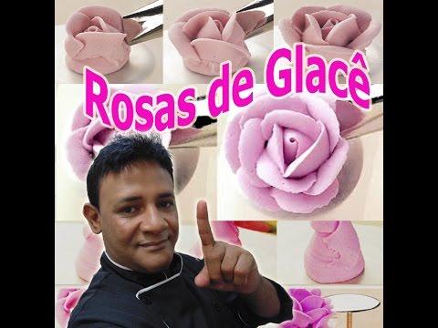 Rosas em Glacê Real Passo a Passo - Confeitaria Online