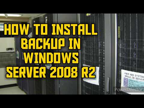 How To Install Backup In Windows Server 2008 R2