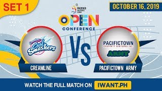 SET 1 | Creamline vs. Army | Oct 16, 2019 #PVL2019 (Watch the full game on iWant.ph)