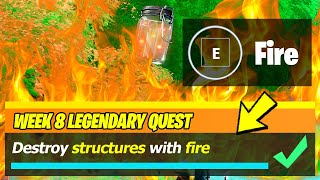 Destroy Structures With Fire Locations - Fortnite