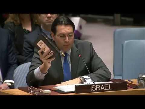 Israeli Ambassador full speech on UN settlement vote (UNSC Resolution 2334)