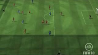 【FIFA10】 Essien エッシェン シュートをGKが弾いてゴール
