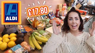 ALDI FOOD HAUL UK | Grocery Shop At ALDI With Prices + Meal Plans