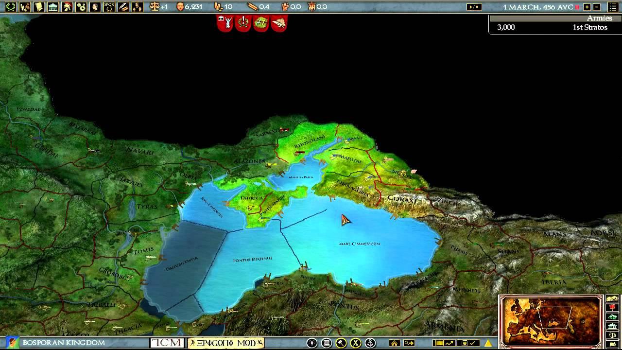 Lets Play Europa Universalis Rome Epigoni Mod Part YouTube - Eu rome map