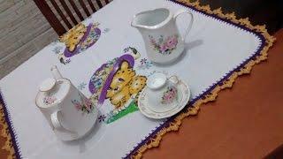 Bico em crochê modelo 1 Pano de chá