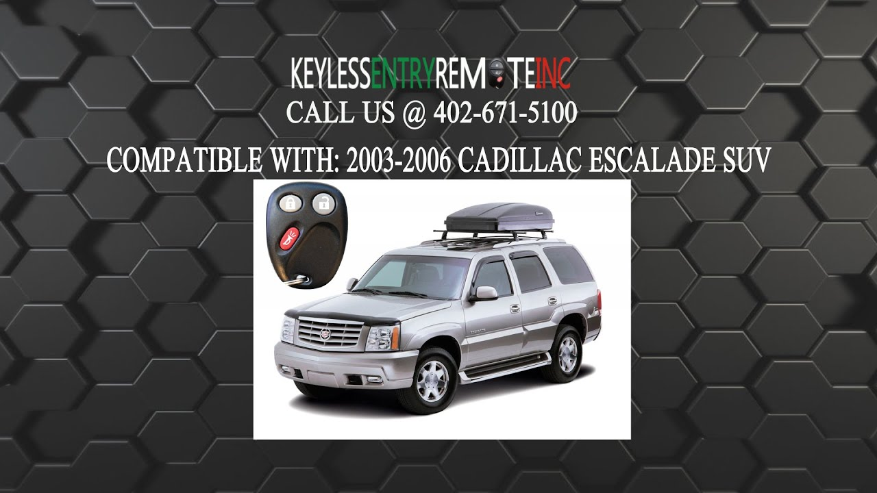 How To Replace Cadillac Escalade Suv Key Fob Battery 2003 2006 Youtube