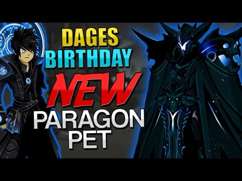 Dages Birthday! NEW PARAGON PETS! (Dreadnought Paragon) NEW PARAGON SET! AQW AdventureQuest Worlds
