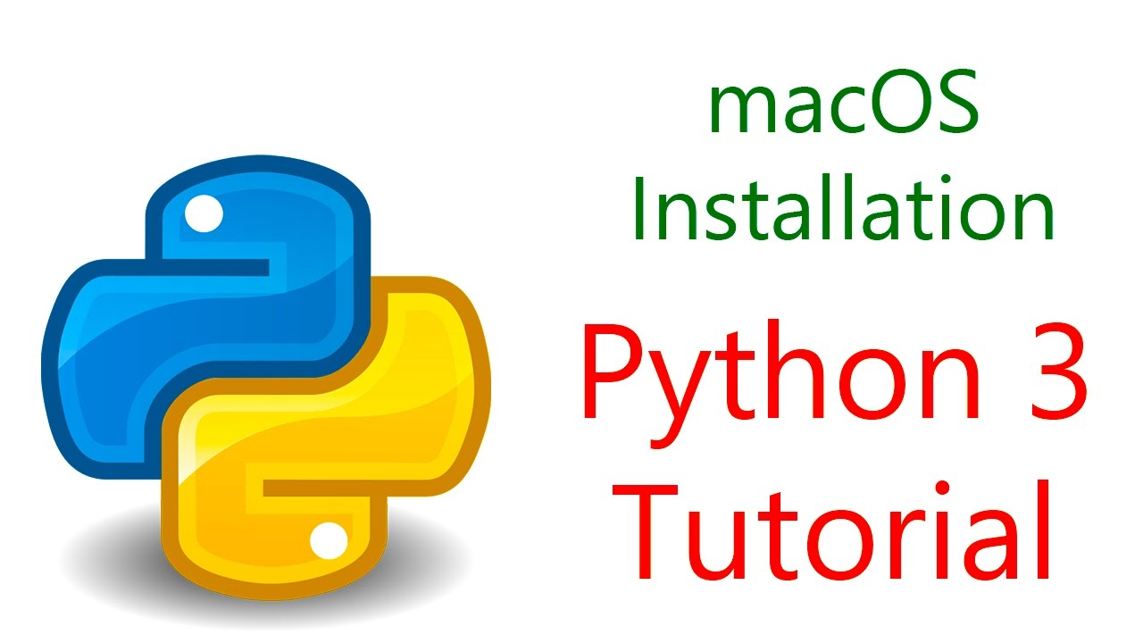 Instructions for Python 3 installation on macOS