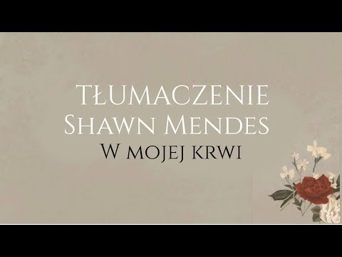 Shawn Mendes - In My Blood TŁUMACZENIE