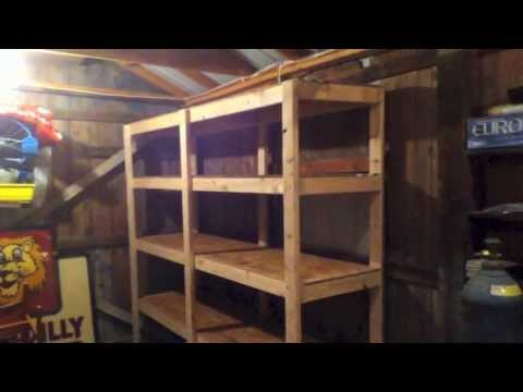 UpDate on My How To Build Cheap Shelves Garage Storage - YouTube