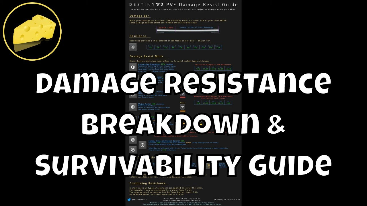 Damage Resistance Breakdown And Survivability Guide - Destiny 2 Explained