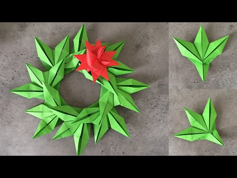 DIY Paper Christmas Wreath | Decoration Ideas For Upcoming Christmas