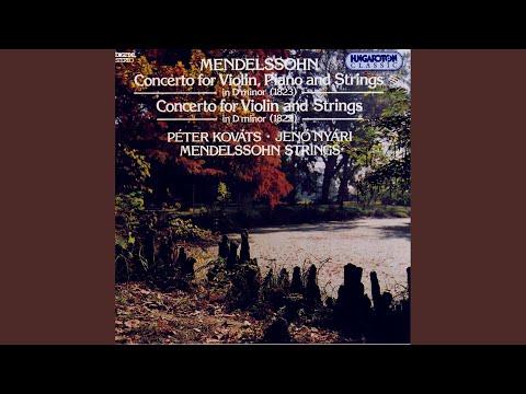 Concerto Fo Violin, Piano And Strings In D Minor, II. Adagio