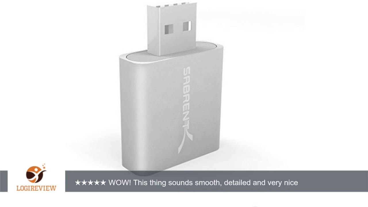 Sabrent Aluminum USB External Stereo Sound Adapter for