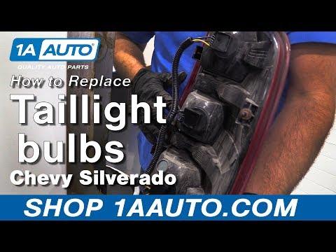 How to Install Tail Light Bulbs 07-13 Chevy Silverado